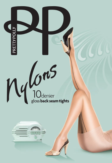 Pretty Polly Gloss Backseam 10D Strumpbyxor Med söm / Strumpbyxor.com