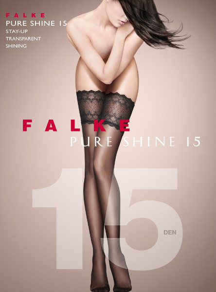 Falke Pure Shine 15 Stay-up  / Strumpbyxor.com
