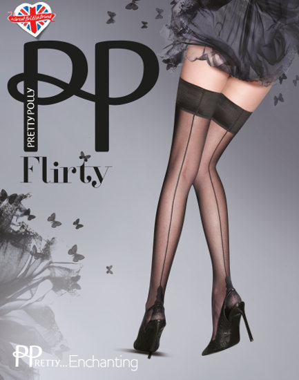 Pretty Polly Flirty Backseam Stay-up Med söm / Strumpbyxor.com