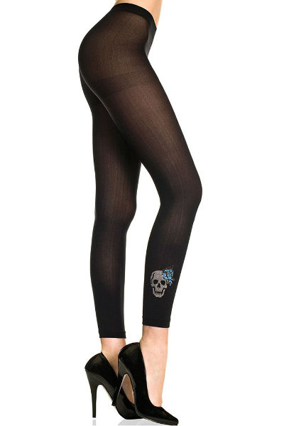 Music Legs Skull and Anchor Leggings Mode & Design / Strumpbyxor.com