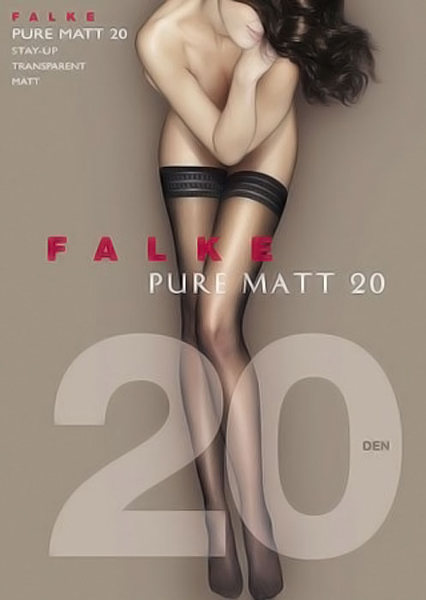Falke Pure Matt 20 Stay-up  / Strumpbyxor.com